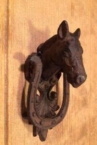 horse cast iron doorknocker - 3