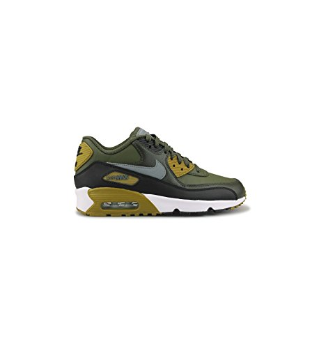Price comparison product image Nike Big Kids Air Max 90 Leather Running Shoes