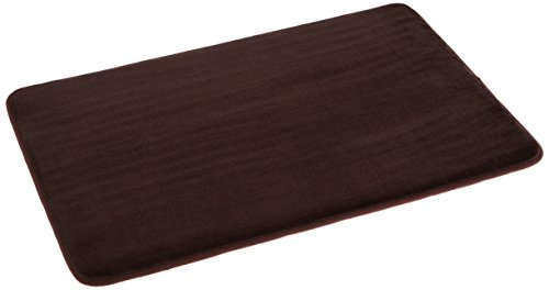 18' High Stand (AmazonBasics Non-Slip Memory Foam Bathmat 18'' x 28'', Dark Brown)