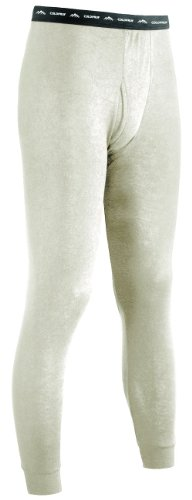 ColdPruf Men's Authentic Dual Layer Wool Plus Base Layer Bottom, Oatmeal, Large