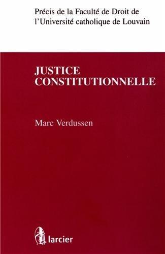 Justice constitutionnelle de Marc Verdussen (28 septembre 2012) Broché
