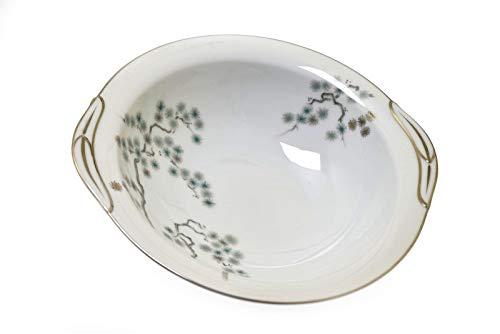 - Noritake Pineville 5854 White Green Silver 10