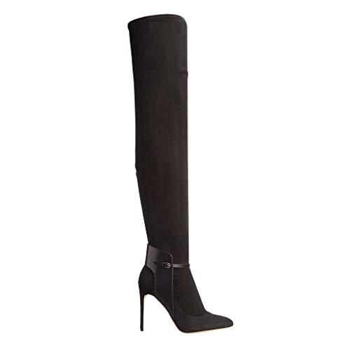 Frauen Kopf Seitlichem Stiefel Einfarbig Heel PU Stiefel Reißverschluss Künstliche Stiefel High Plattform Hohe Runden Knie Ritter Wasserdichte rxwYBr8z