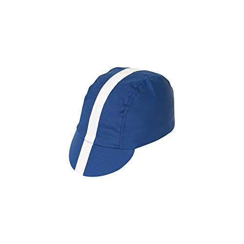 Pace Sportswear Classic Cycling Cap: Royal Blue with White TapeXL