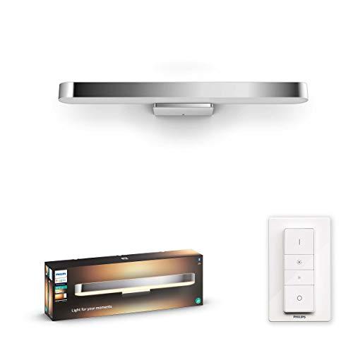 Philips Hue Adore badkamerspiegellamp – IP44 – Duurzame LED Verlichting – Warm tot Koelwit Licht – Incl. dimmer switch…