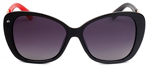 "PRIVÉ REVAUX ICON Collection ""The Jackie O."" Handcrafted Designer Polarized Cat-Eye Sunglasses (Black) - De Designer Eyewear"
