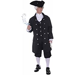 Forum Novelties Men's Founding Father Patriotic Adult Costume, Black, Standard