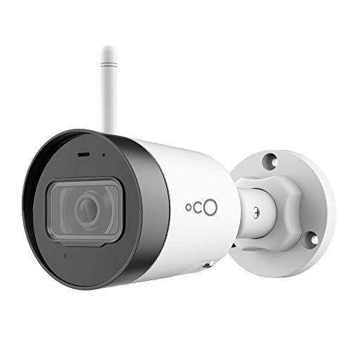 Oco Pro Bullet v3 Wi-Fi 1080p Wireless Security Camera with Micro SD Card Support and Cloud Storage – Weatherproof Outdoor/Indoor IP Surveillance System with Remote Monitoring and Night Vision