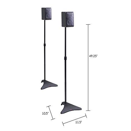 Atlantic Satellite 77305018 2 Speaker Stands, Black, 2 Stands Per Pack
