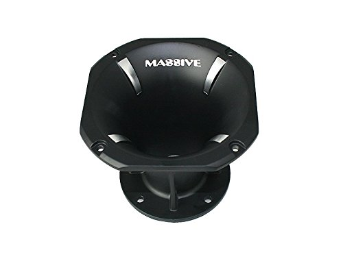 Massive Audio F4 - Flare Horn Pro Audio for Cars and DJ Compression Drivers, 45 x 45, 2 Inch Bolt On | Sold Individually