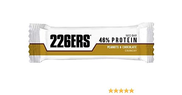 226ERS Neo Bar Protein, Barritas Proteína Bajas en Ázucar, Sin Gluten y Enriquecidas con Magnesio y Vitaminas, Nueces & Chocolate - 24 barras x 50g