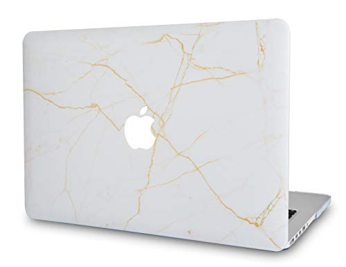Bars Alabaster - LuvCase Rubberized Plastic Hard Shell Cover Compatible MacBook Pro 13 inch A1989 / A1708 / A1706 with/Without Touch Bar, Newest Release 2019/2018/2017/2016 (Alabaster Marble)