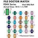 FILE DOCTOR FDA/NV LABELS 500/ROLL, VINYL, 1'' X 1 1/4'' (ALPHA STARTER KIT)