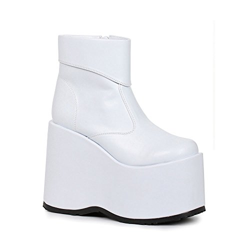Ellie Shoes Men's Platform Ankle Boot M WHT