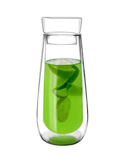 EZ Life Double Wall Shaker Bottle-Infuser – 550 ml -1 pc-Transparent