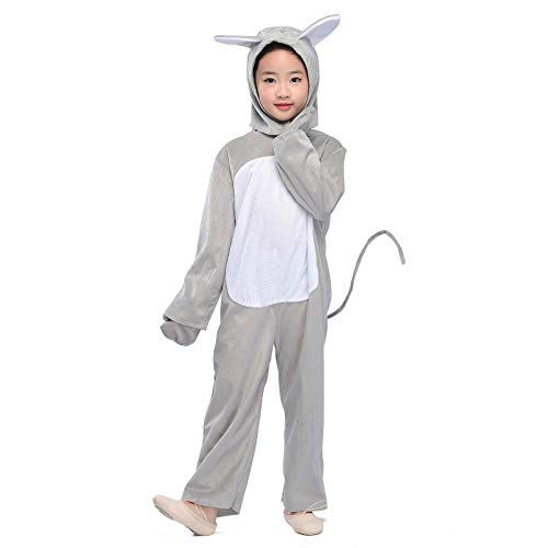 Kids Grey Mouse Costume Animals Party Childen Halloween