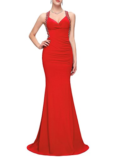 fitted backless mermaid dress - 6