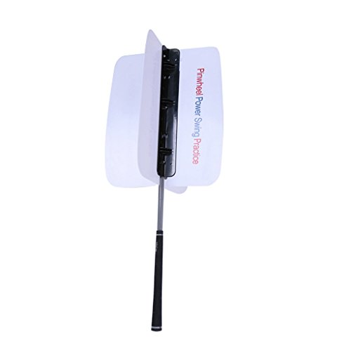 Golf Pinwheel Swing Power Fan Trainer Practice Training Aids / Comes with Mounting Screws--Great Golf Practicing Aid for both Professional and Amateur Golfers
