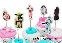 Star Wars Cupcake Toppers Picks Star Wars Birthday Party Supplies Favors Pack of 24]()