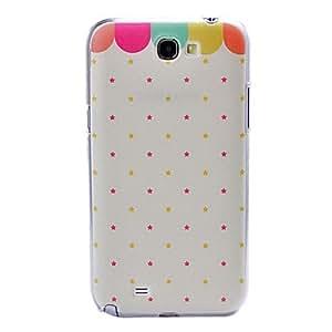 HC-Pequeña fresca estrellas patrón plástico atrás difícilmente el caso para Samsung Galaxy Note N7100 2