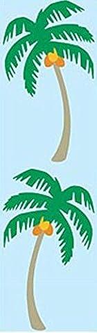 Mrs. Grossman's Stickers - Palm Tree - Exotic Palm Tree with Coconuts - 4 Strips - Mrs Grossmans Sticker Strips