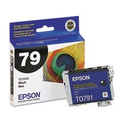 Epson Black Ink Cart - Epson T079120 OEM Ink - (79) Stylus Photo 1400 Artisan 1430 Claria High Capacity Black Ink (470 Yield)