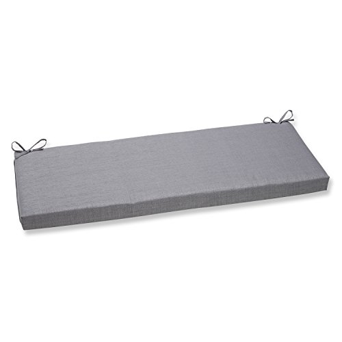 Pillow Perfect Bench Cushion, Rave Graphite (Cushion X 45 16 Bench Outdoor)