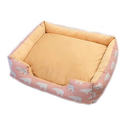 Nido de mascotas Pink Bear Figura Engrosamiento Pet Nest Four Seasons Universal Extraíble Lavable Pequeño y Mediano Canvas...