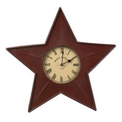 Park Designs Metal Red Star Wall Clock 16