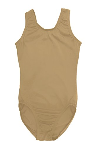 Sookie Active Basic Tank Leotard (NUDE, Youth 8-10) -