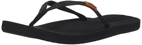 - Reef Women's Slim Ginger Sandal, Black/Black, 8 M US