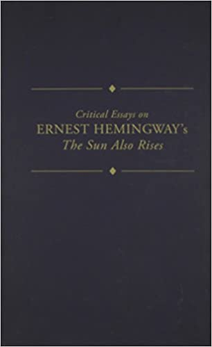 English As A World Language Essay Amazoncom Critical Essays On Ernest Hemingways The Sun Also Rises  Critical Essays On American Literature Series  James  Nagel Books Essay Samples For High School also Political Science Essays Amazoncom Critical Essays On Ernest Hemingways The Sun Also Rises  Topics For Synthesis Essay
