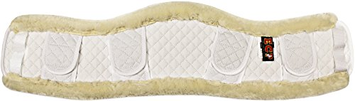 ECP Faux Shearling Contoured Girth Protection Cover   Sheepskin Alternative   Helps Prevent Gall Sores Chafes