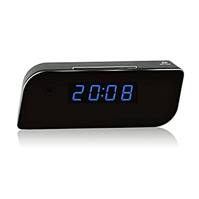 Sappywoon Wi-Fi Hidden Camera Clock Wireless Security IP Camera HD 1080P App Real-Time Video Motion Activated Alarm Loop Video Recorder Nanny Spy Cameras, Black from SAPPYWOON