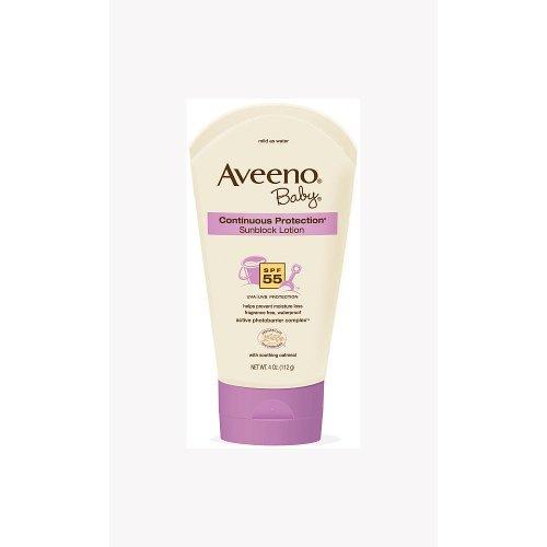 Aveeno Continuous Proctection Sunblock SPF 55 - 4 Ounce