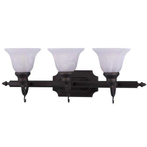 Livex Lighting 1283-07 French Regency 3-Light Bath Light, (Regency 3 Light Vanity)
