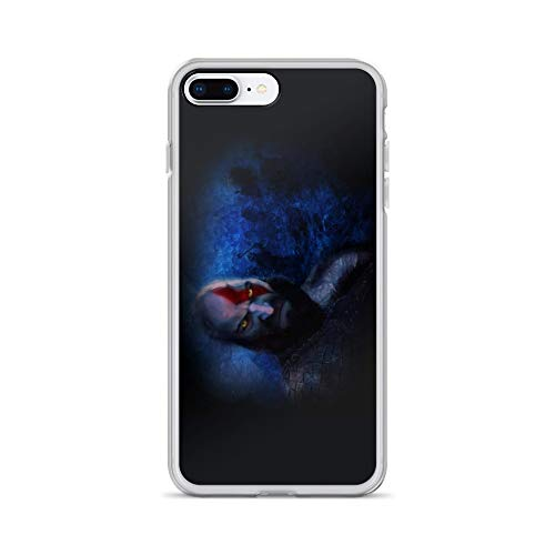 iPhone 7 Plus/8 Plus Case Anti-Scratch Gamer Video Game Transparent Cases Cover God of War Ii Illustration Photoshop Gaming Computer Crystal Clear