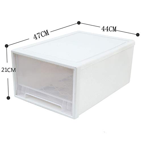 Drawer Storage Cabinet-Oversized Storage Box Drawer Type Children's Book Storage Cabinet Storage Box Sweater Quilt Storage Box can be superimposed Transparent -