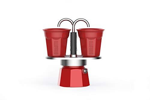 Bialetti Mini Express, Cafetera de 2 tazas, Nueva colección, Red