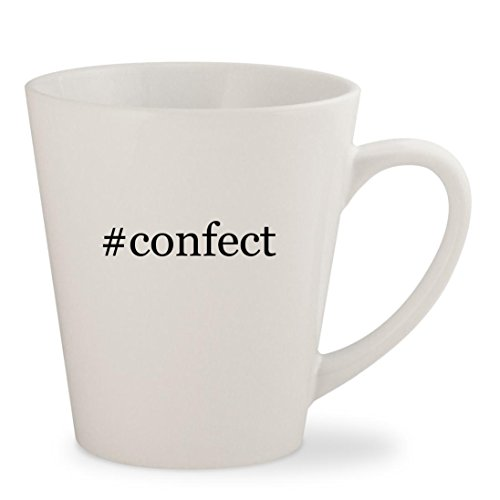 #confect - White Hashtag 12oz Ceramic Latte Mug Cup