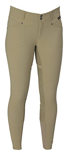 - Kerrits Ladies Cross-Over Fullseat Breech - TAN Medium