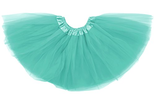 Dancina Tutu Tweens 5k 10k Fun Run Classic Vintage 3 Layer Puffy Tulle Skirt 8-13 Years Mint]()
