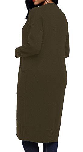 Pullover Tempo Con Classiche Monocromo Giacca Tasche A Donna Lunghi Donne Cappotto Autunno Libero Comodo Outwear Primaverile Maglia Moda Dunkelblau Maniche Relaxed Lunghe Elegante qpCqwTX