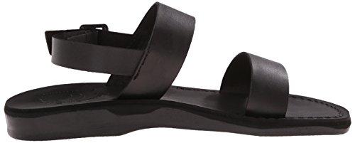Black Jerusalem Golan Flat Women's Sandals Sandal Rubber ggZSAz0W