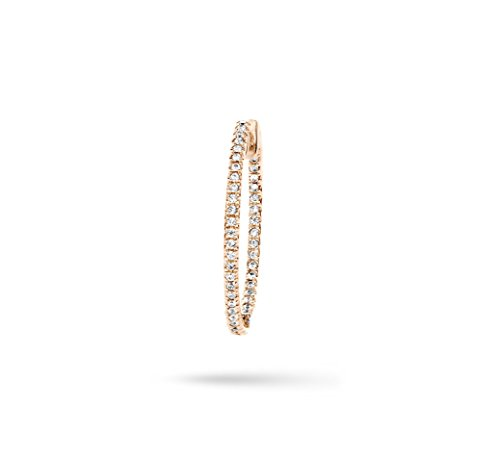Joelle Jewellery Boucles d'Oreilles Plaqué Or Ronde Diamant Blanc Femme