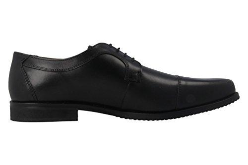 MANZ - Coll - Herren Business Schuhe - Schwarz Schuhe in Übergrößen Crz0f