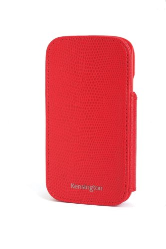 Portafolio Duo - Kensington K39613WW Portafolio Duo Wallet Case and Stand for Samsung Galaxy S III - 1 Pack - Carrying Case - Retail Packaging - Red Snakeskin