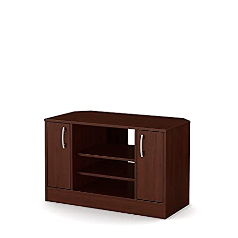 Axess Corner TV Stand - Fits TVs Up to 42'' Wide - Royal Cherry - by South Shore - Cherry Finished Tv Stand