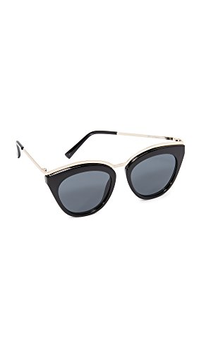 Le Specs Women's Eye Slay Sunglasses, Black/Smoke Mono, One - Slay Sunglasses