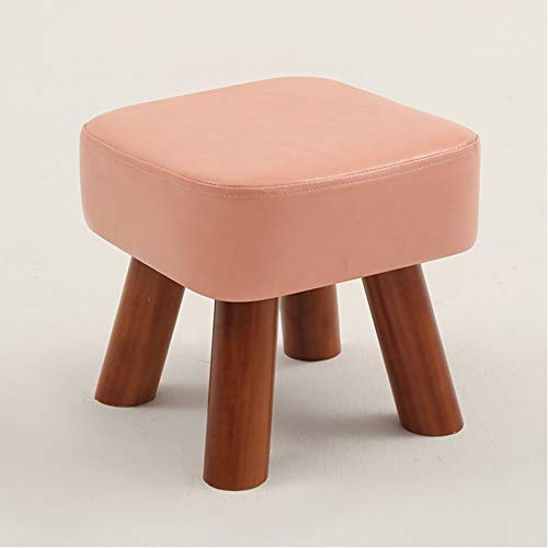 RYFTS Leather Sofa stool With 4 legs,Modern Simple Footstool Home Office...